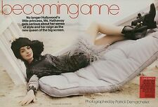 Anne Hathaway 7pg + cover TEEN VOGUE magazine feature, clippings