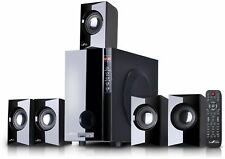 Home Theater Speaker System 5.1 Channel Surround Sound Bluetooth Black BeFree