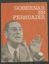 Juan Domingo Peron Booklet Speech Gobernar Es Persuadir