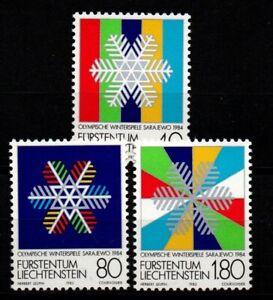 Liechtenstein 1983 Sc# 772-774 Mint MNH winter Olympic games sport snow stamps