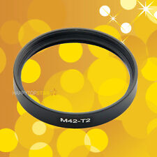 M42-T2 42mm M42cm T2 Female to Female Double Dual inner thread Lens Ring Adapter