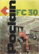 Brochure Poclain FC 30  Escavatore Cingolato anni 70  Macchine da Cantiere