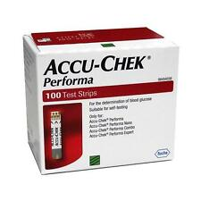 Accu Chek Performa Glucose Test Strips  100Pc Pack  With Free Shipping Worldwide