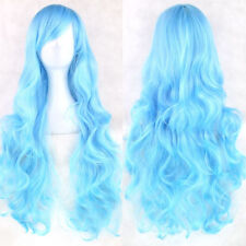 HOT Women Fashion Lady Anime Long Curly Wavy Hair Party Cosplay Full Wig