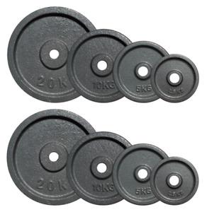 Cast Iron Weight Plates 2.5kg/5kg/10kg/20kg for 1 inch/28mm Dumbbell Barbell Bar