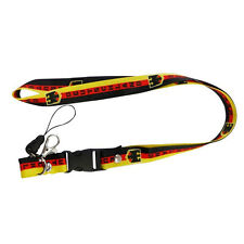 DEUTSCHLAND GERMANY COUNTRY FLAG WITH EAGLE LANYARD KEYCHAIN PASSHOLDER ..  NEW