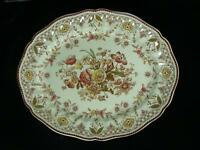 "Vintage Royal Doulton The Glendale Brown 15"" Oval Serving Platter England EUC"