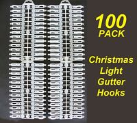 100 Pack Gutter Hooks / Clips for Christmas Fairy Lights