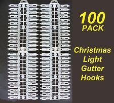 100 Pack Gutter Hooks / Clips for Christmas Fairy Lights