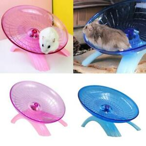 Pet Hamster Wheel Cage Flying Saucer Exercise Mouse Running Toys Disc D1P6