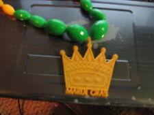 REX King OF MARDI GRAS PLASTIC BEADS NEW ORLEANS PARADE LOUISIANA vintage