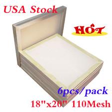 Usa Stock 6pcspack 18 X 20 Aluminum Silk Screen Printing Frame With 110 Mesh
