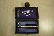 Old Safety Razor First Class No.1363 with Box & Blade Good Morning Swedish (406)