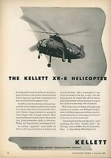 1945 Kellet Aircraft Ad XR-8 Helicopter First Intermeshing Twin Rotor Blades