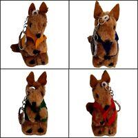 36pc Australia Souvenir Kangaroo W Vest Keyring 5cm Australian Aussie Plush Toy
