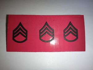 Group Of 3 US Army STAFF SERGEANT E-6 Metal Subdued Badges