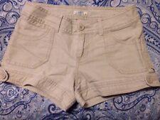 SO wear it declare it tan khaki beige casual shorts junior's size 5 100% cotton