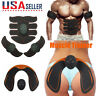 Electronic 6/8 Pads Abdominal Muscle Toner Abs Hip Trainer EMS Muscle Stimulator
