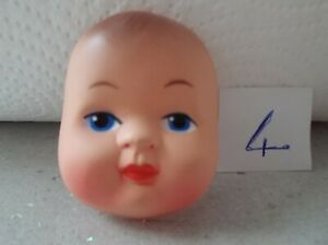 SMALL PLASTIC HAND PAINTED FACE FOR MAKING RAG DOLLS (VIOLET)