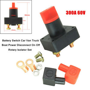 1Set 300A Battery Switch Car Truck Boat Power Disconnect On Off Rotary Isolator