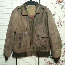 Men's Vintage MIRAGE CLASSIC'SBrown Leather A-2 Style Bomber Flight Jacket