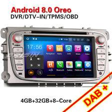 Android 8.0 Autoradio Ford Focus Mondeo Galaxy C/S-Max GPS Navi DAB+ DVB-T2 WiFi