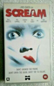 SCREAM COLLECTABLE VHS 18 1998 DAVID ARQUETTE NEVE CAMPBELL