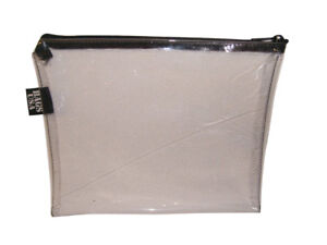 Clear vinyl travel Bag, clear vinyl deposit money transparent bag made in U.S.A.