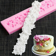 Pearl Beads Necklace Silicone Fondant Mould Cake Decorating Mold Sugarcraft Tool