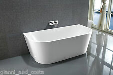 Bathroom Acrylic Free Standing Bath Tub 1400x700x580 Back to Wall Model Kiklo
