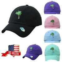 62e4f3dea46 Palm Tree Dad Hat Plain Baseball Cap Unconstructed Fashion Casual Cotton  Caps