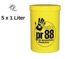 5 x PR88 Hautschutzcreme abwaschbarer Handschutz PR 88