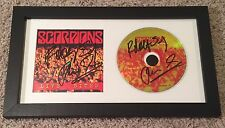 THE SCORPIONS KLAUS MEINE & RUDOLF SIGNED LIVE BITES FRAMED CD w/VIDEO PROOF