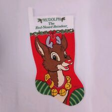 Vintage Rudolph the Red Nosed Reindeer Christmas Stocking Robert L May Co