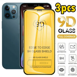 iPhone 12 13 / Pro / Max Mini 9D Tempered Glass Full Coverage Screen Protector