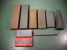 OLD USED VINTAGE TOOLS FINE SHARPENING HONING STONES GROUP PLANES CHISELS