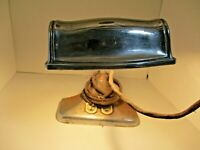 Vintage Chrome Desk Lamp with Two Outlets