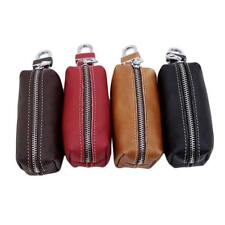 Unisex Key Holder Case Leather Keychains Pouch Storage Bag Car Wallet Key Ring G
