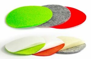 2x Air Hockey Table Felt Pushers Replacement Felt Pads - GREEN RED GRAY