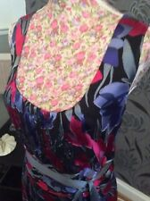 Monsoon seta floreale Evening Dress Size 22 Immacolata distacco DAILY SUMMER 9 MAGGIO