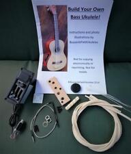 More details for diy bass ukulele kit - build your own electro acoustic u-bass. std kit.