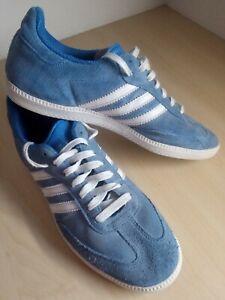 Mens Adidas Samba Blue Suede Trainers UK 7.5 EU 41 1/3