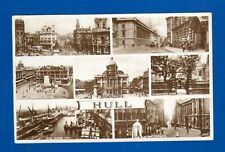 Vintage Postcard Hull Yorkshire 7 Image Multi-View Valentine's Real Photograph