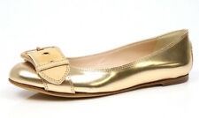 Giuseppe Zanotti 1060 Mirror Metallic Rosegold Buckle Ballet Flats Size 38.5