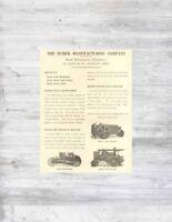 VTG Antique HUBER Road Grader TRACTOR Steam Roller Maintenance Highway DOT Ad