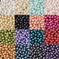 4/6/8/10/12mm  Round Czech Glass Pearl Loose Beads lot for Crafts Jewelry Making
