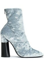 NEW 3.1 Phillip Lim. Kyoto Grey Crushed-velvet Ankle Boot, Women Size 37.5, $695