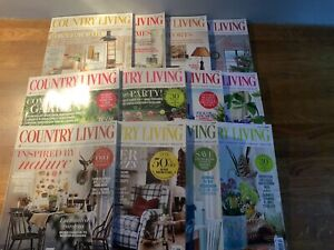 Country Living Magazines 2015 (12 Copies)