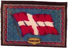 """c 1910 Denmark Antique Cigarette Tobacco Felt Blanket Flag 8.5"""" x 6"""""""