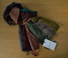 PAUL SMITH Artist Signature Stripe silk cotton scarf Signature Striped BNWT NEW